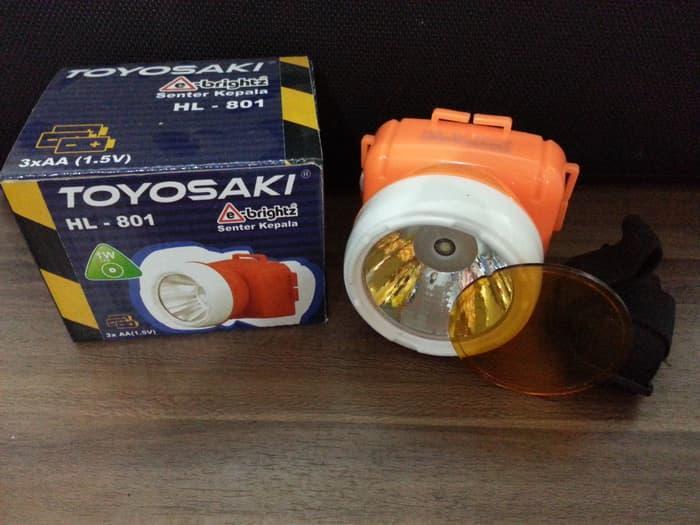 SENTER KEPALA Cahaya Kuning / Putih ( bisa diganti ) merk Toyosaki