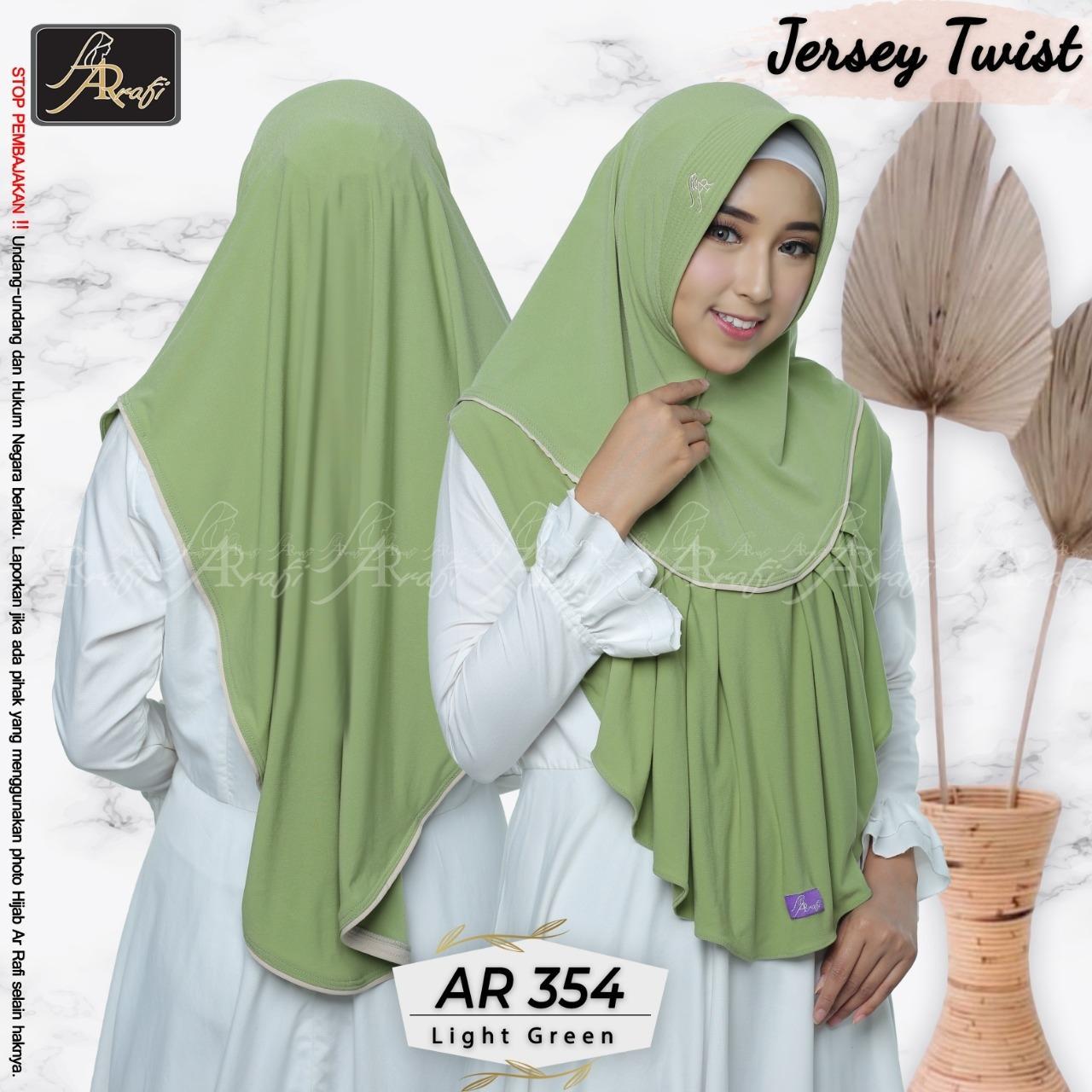 Hijab Arrafi AR 354 Light Green Jilbab Instan Ar Rafi Original Bergo Khimar Kerudung Jumbo Syari
