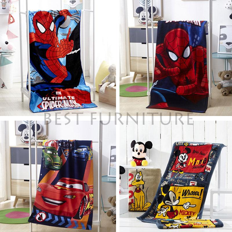 Best Handuk Mandi Anak Karakter Anak Laki-Laki Uk 75x150cm - Random Multicolor By Best Furniture.