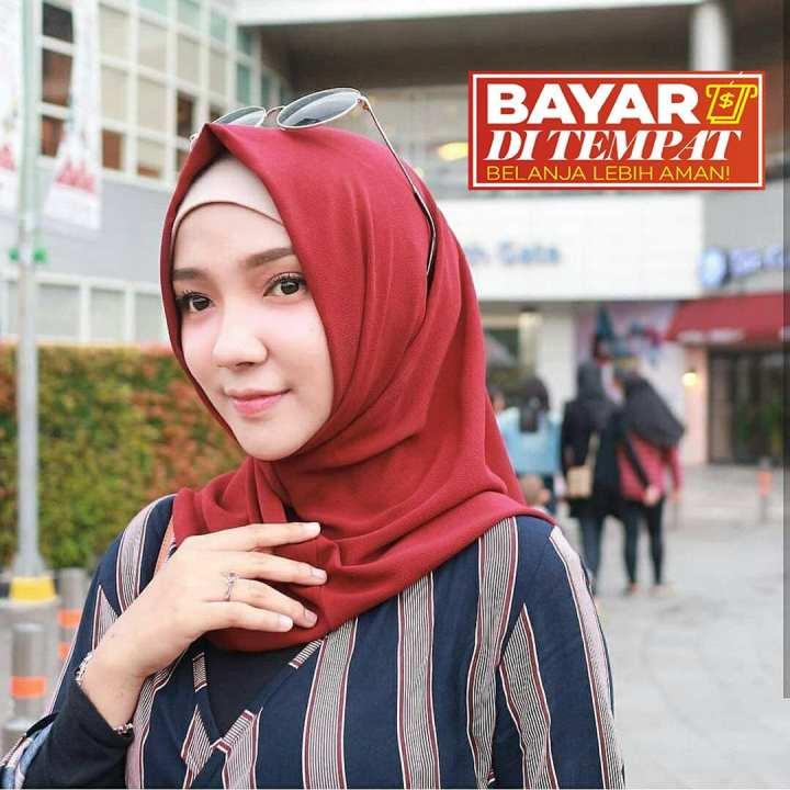 [COD] Jilbab / Hijab SHALWA instan Bahan Premium