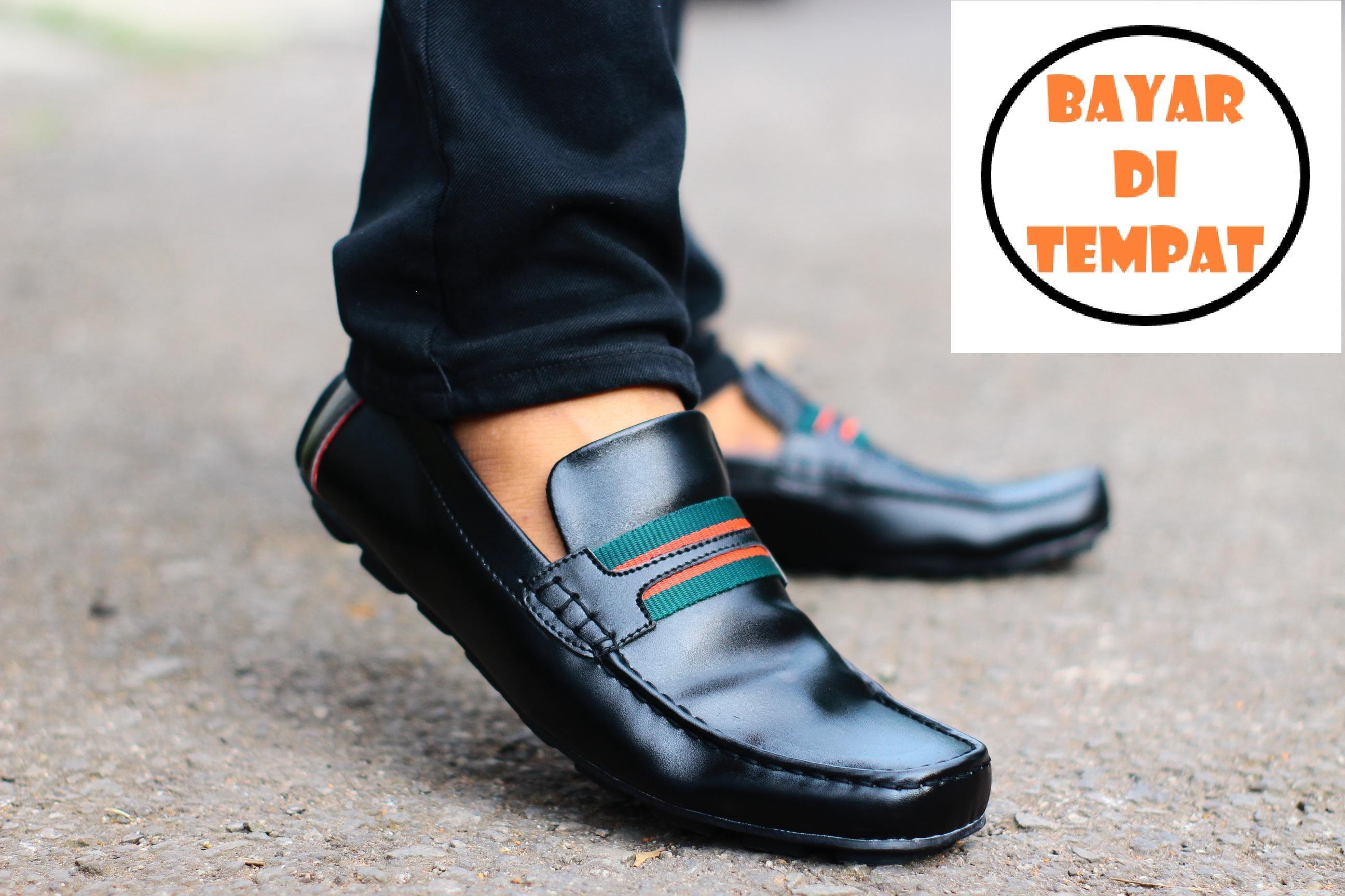Sepatu kantor pria casual slop slip on loafers formal santai kasual 4c05962d40