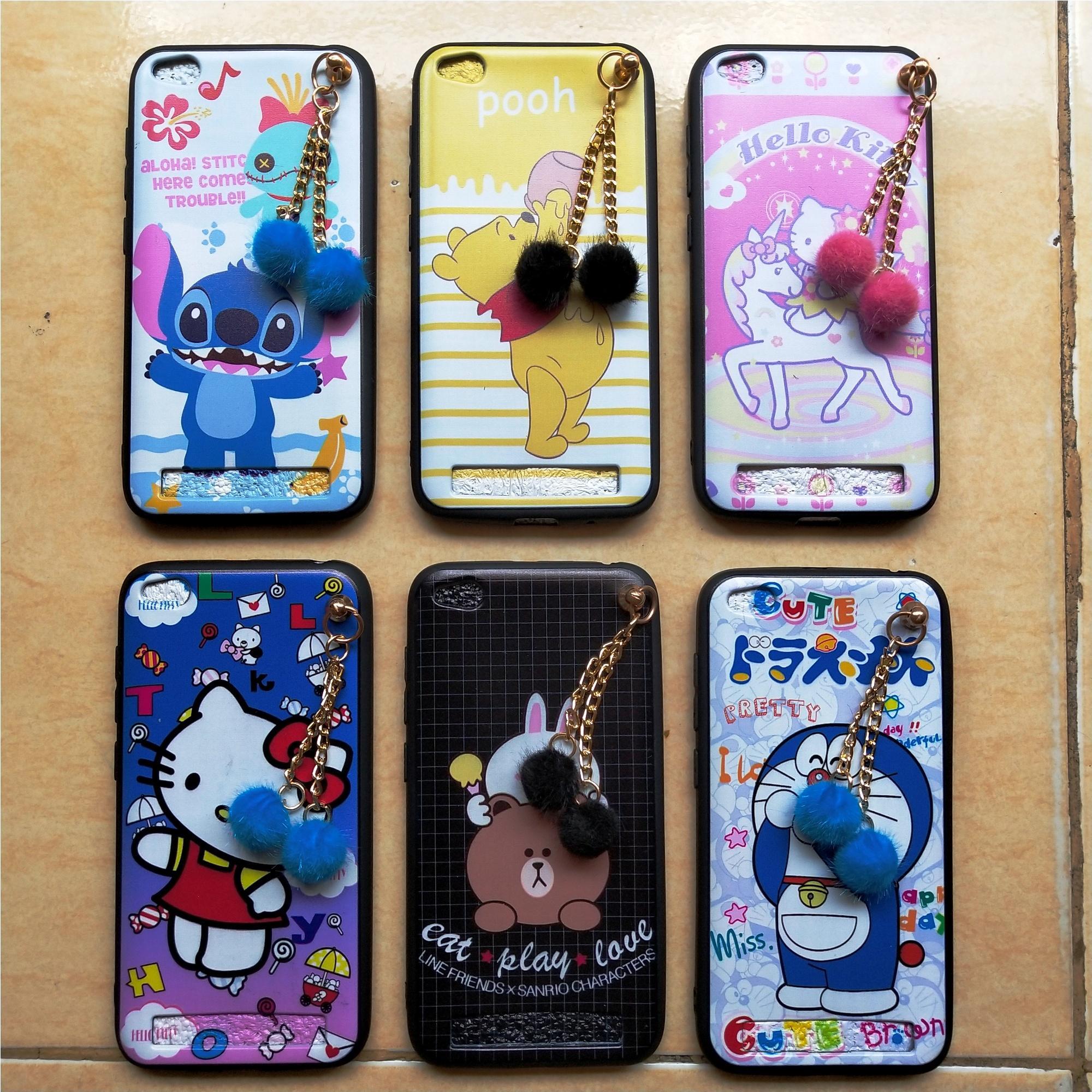 Mika Hp Xiaomi Redmi 5a Case/softcase Karakter Gantungan Pompom - Lucu By Ragif Store.