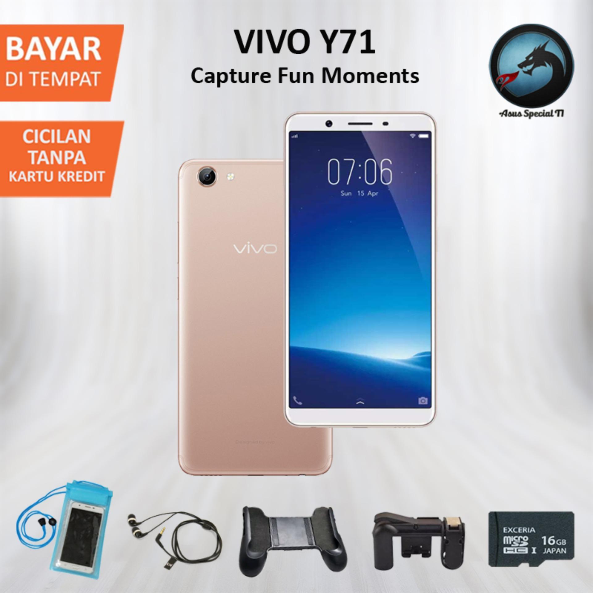 Vivo Y71 Smartphone - Gold [16GB/ 2GB] + Special Gift