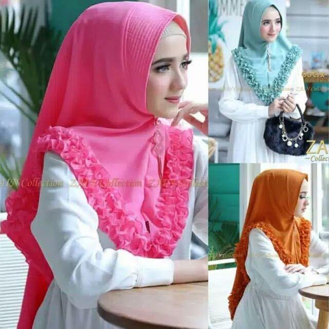 Hijab/Jilbab Instan Model Bergo terbaru termurah dan Terlaris / Kerudung Wanita ss scraf Gotik