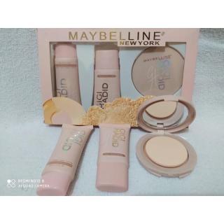 COD- Mybelline x Hadid Makeup Set Foundation Bedak Highlighter grosir kosmetik starkosmet thumbnail