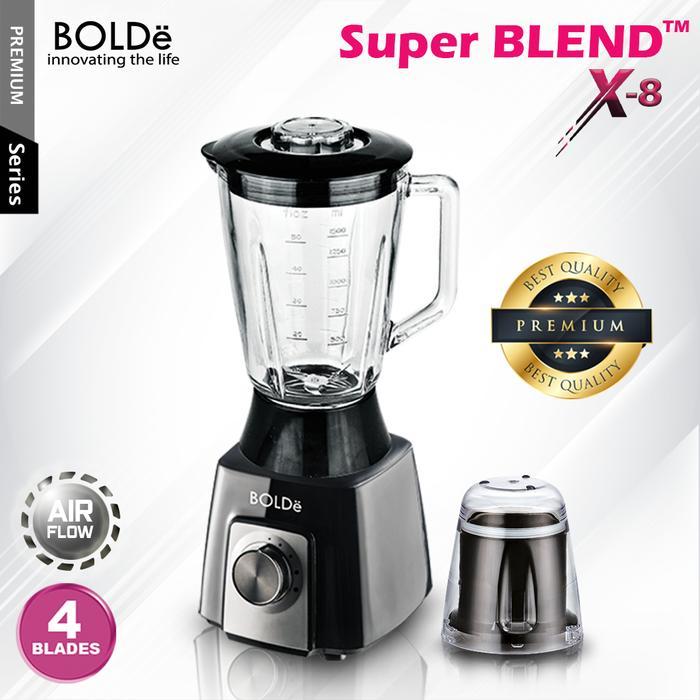 BOLDE Blender Kaca 1.5 Liter Super Blend - X8