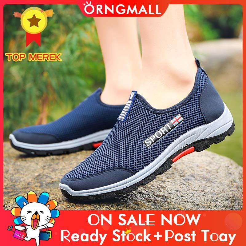 Sepatu Sneakers Orngmall Baru Pria Sepatu Kets Kasual Sepatu Jalan Malas Nyaman Mengemudi Sepatu Atletik Sepatu