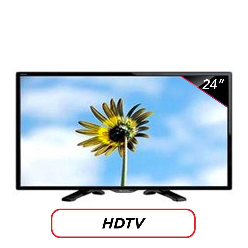 Sharp HD LED TV 24 - LC-24LE175I - Hitam USB MOVIE FREE PACK KAYU LUAR KOTA