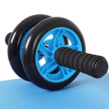 Wheel Roller Double Wheel / Alat Sit Up / Alat Gym Big Sale Double Ab Wheel Roda Exerciser Roll Gym Fitnes + Matras Ab Lx 009-1 Termurah By Gxc Accesoris.