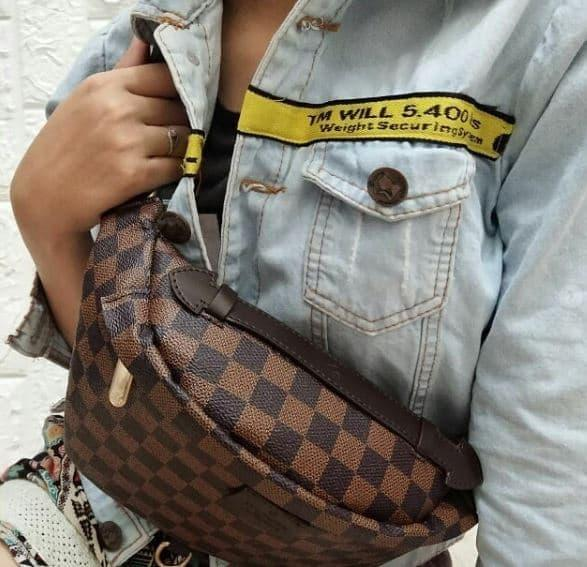 Hot Promo Louis Vuitton Waist Bag Semi Premium Authentic By Mardiyah Fashion Store.