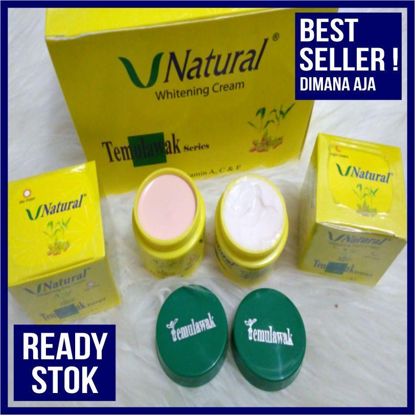 BEST - HOT PROMO PRODUK - Cream temulawak V natural Whitening Day n night - BEST PRODUK PROMO - LAZADA PROMO BIRTDAY