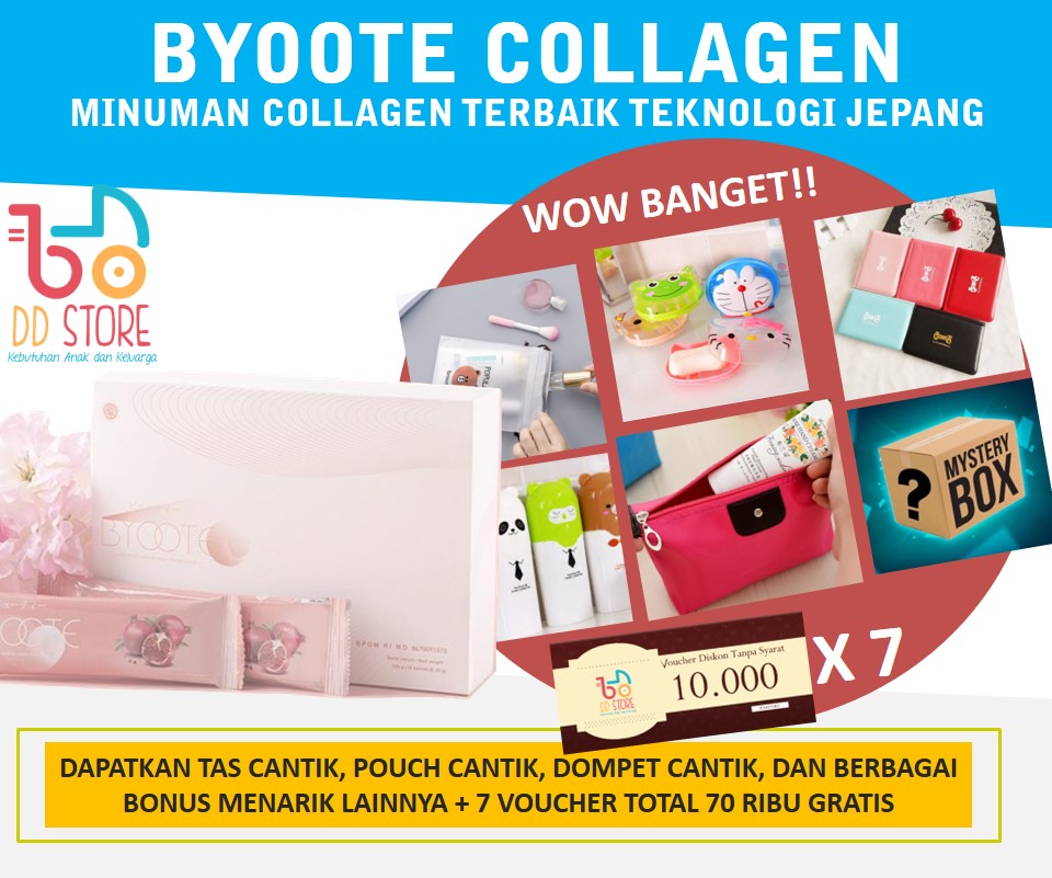 [ORIGINAL & AMPUH] BYOOTE COLLAGEN 1 BOX 16 SACHETS BPOM