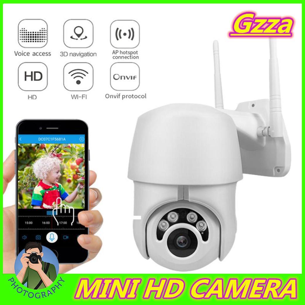 Gzza【COD】【Free Shipping】EC76 EU WIFI Camera Outdoor PTZ IP Camera 2MP Wireless Speed Dome CCTV Security Cameras 2MP IR Home Outdoor Surveilance Cùng Khuyến Mại Sốc