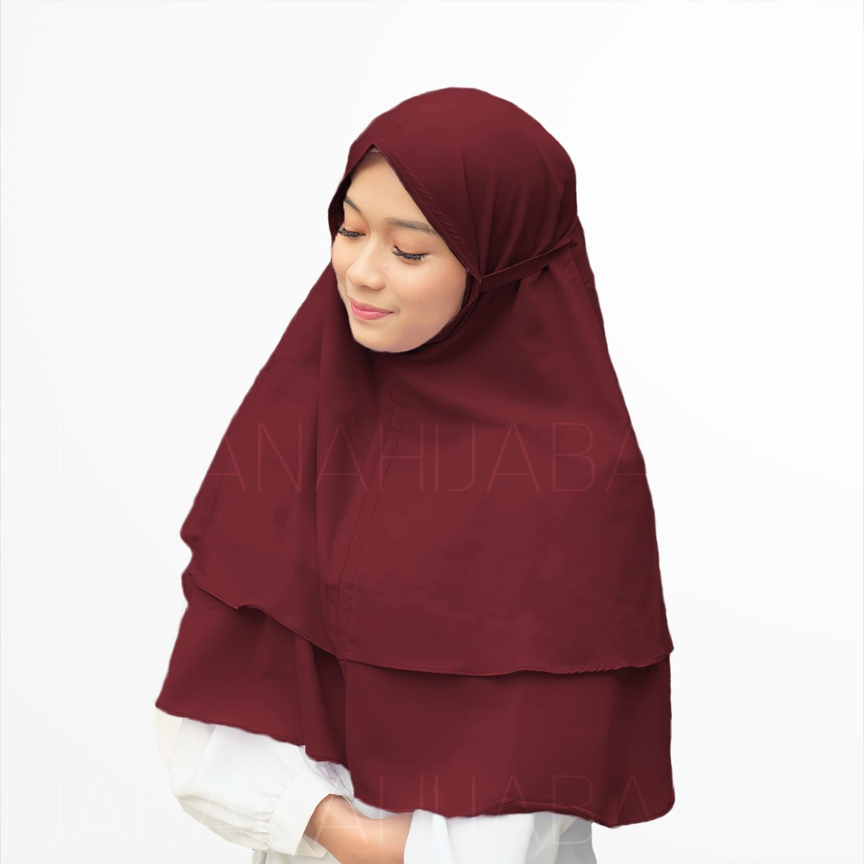 HIJABANA Kerudung Instan Bella Bergo 2 Layer - Jilbab instan Hijab Instan - Khimar Instan Dua Layer Pashmina Instan Pastan Oshi
