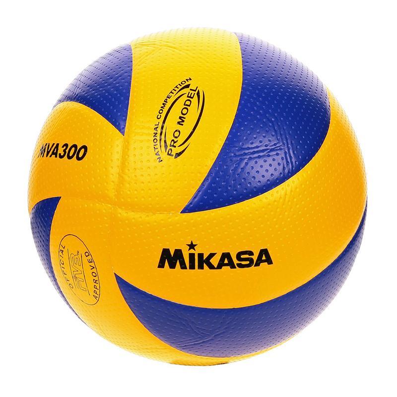 Mikasa Bola Voli Mva300 Volley Ball Sport Volleyball Volli Sport Mv 210 Bahan Lembut Ringan Servis Service Passing Smash Spike Tidak Sakit Di Tangan Bola Tangan Handball Perlengkapan Olahraga Sporty - Kuning Biru By Topaten.
