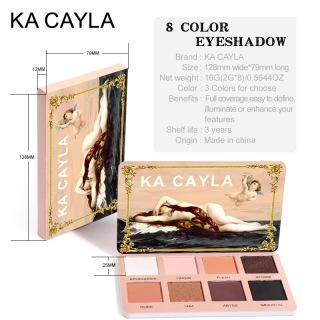 C & M Ka Cayla Phấn Mắt 8 Màu, Bảng Phấn Mắt Nhũ Mờ Bảng Phấn Mắt Kim Loại Lấp Lánh Chống Thấm Nước Ngọc Trai thumbnail