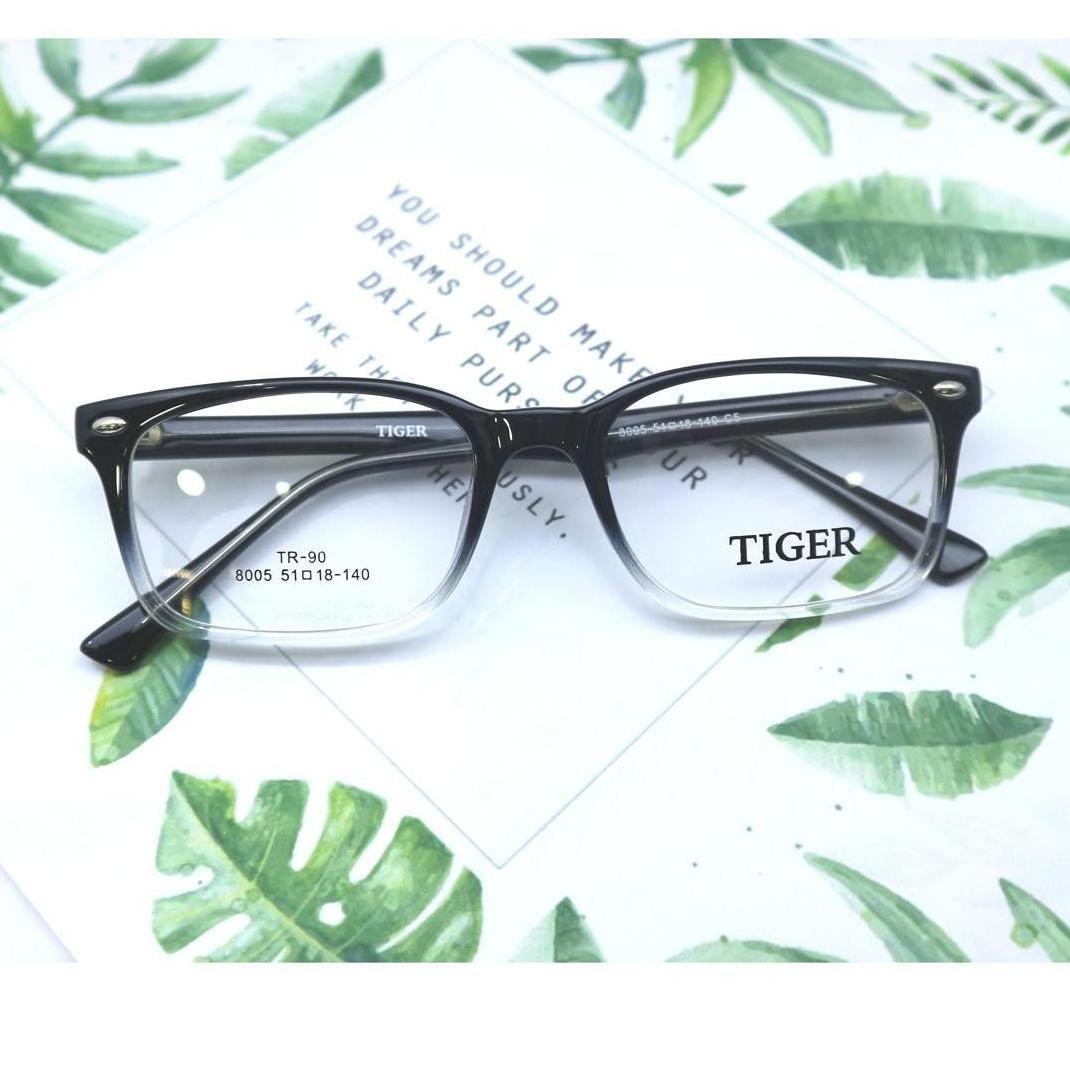 Frame Kacamata Tiger 8005 Hitam Gradiasi putih 59479fc8b0
