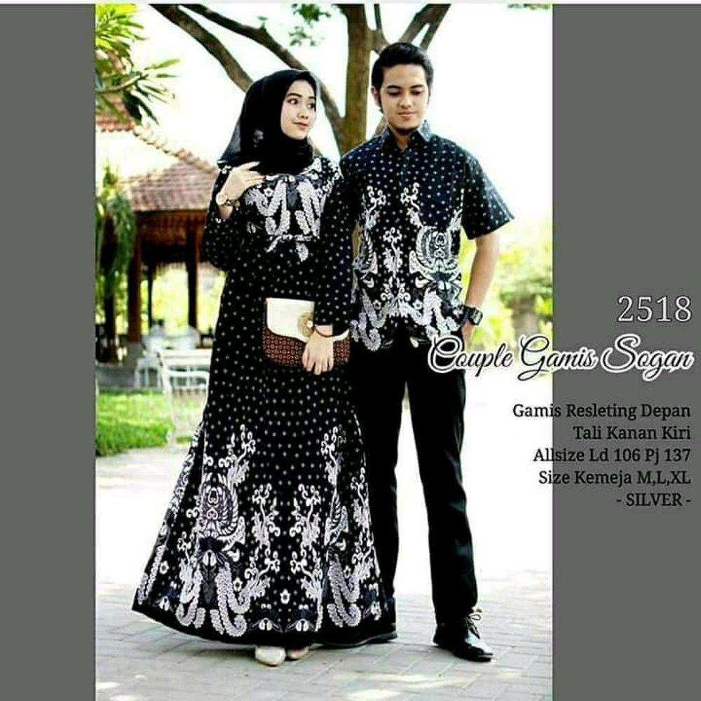 Baju Muslim Pasangan Gamis Batik