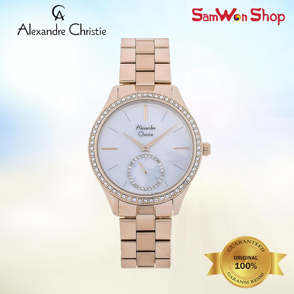 ALEXANDRE CHRISTIE AC 2715 BFBRGMS MOTHER OF PEARL ROSE GOLD 100% ORI
