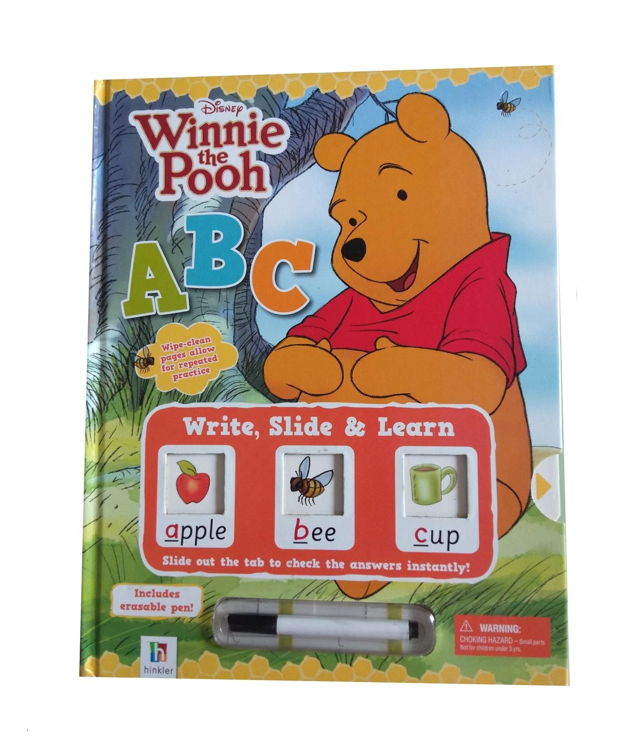 Buku Anak Import Write, Slide&learn Abc Winnie The Pooh Wipe Clean Book, Buku Aktivitas By Juragan Junior.