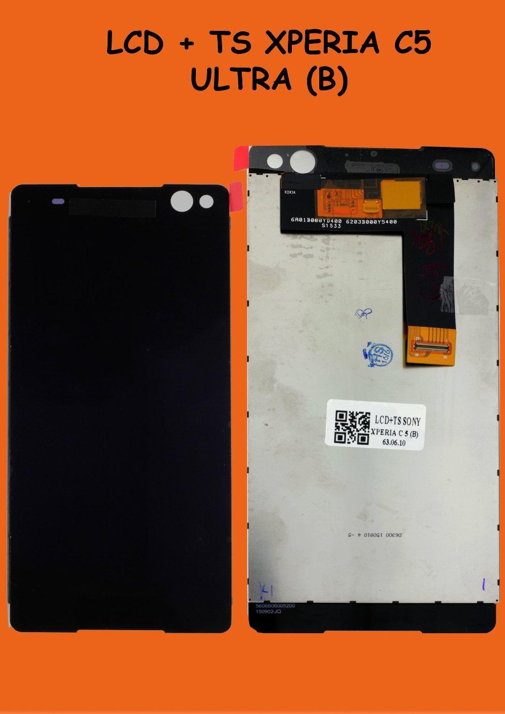 Lcd Touchscreen Sony Xperia C5 Ultra Black Original