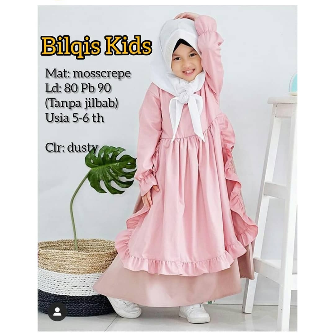 Bilqis Kids Dress Anak Baju Muslim Anak Gamis Anak 5 6 Tahun Baju Gamis Anak Baju Gamis Anak Perempuan Gamis Anak Terbaru Gamis Anak Modern Lazada Indonesia