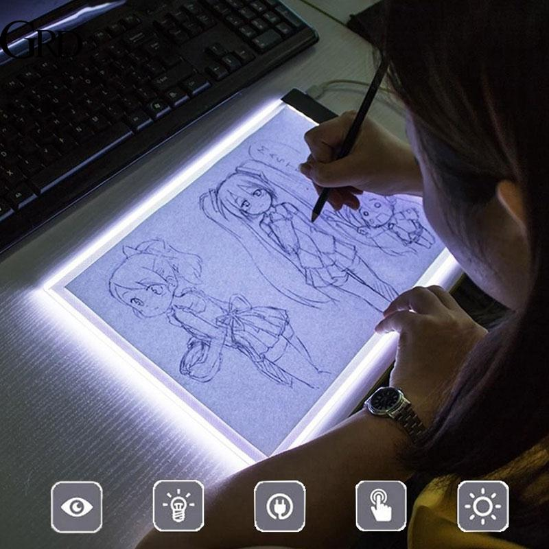 GRAND Acrylic Copy Board Copy Table Drawing Tablet LED Durable 5V Mini Panel Tracing Board