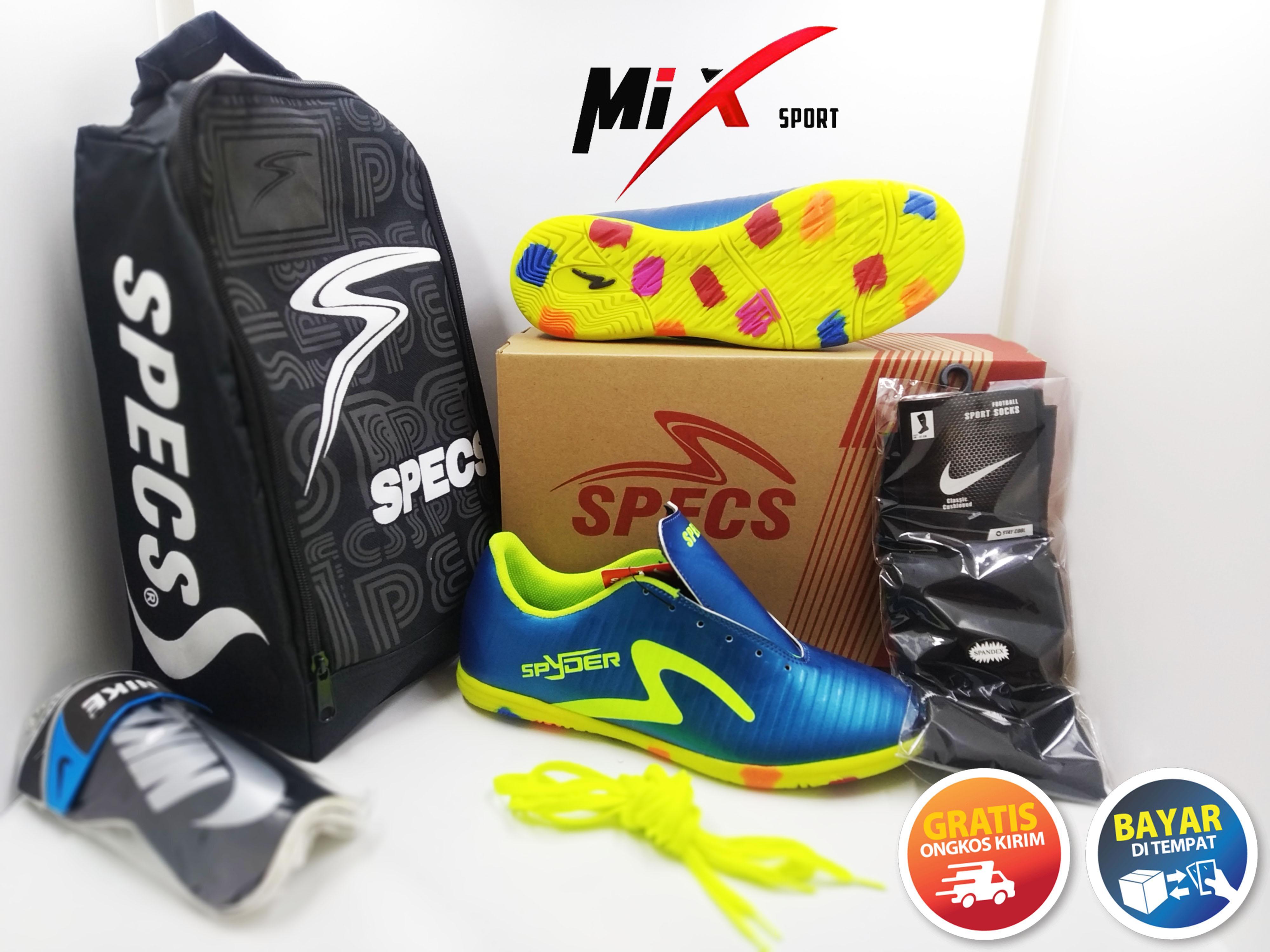 Sepatu Futsal Specs Terlaris Bonus Kaos Kaki Tas Dan Deker By Yuk Bungkus.