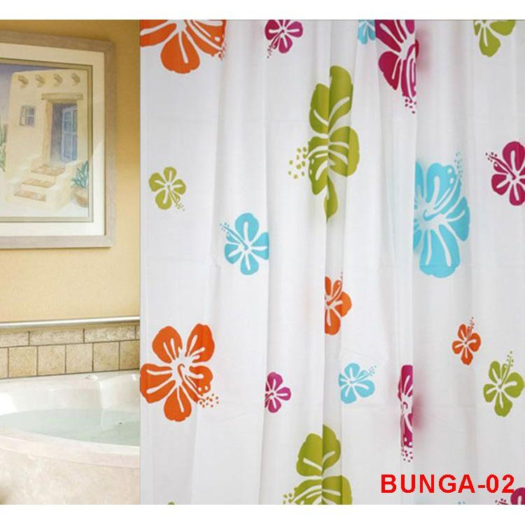 Promo TGB Shower Curtain Gorden Tirai Gorden Kamar Mandi Anti Air