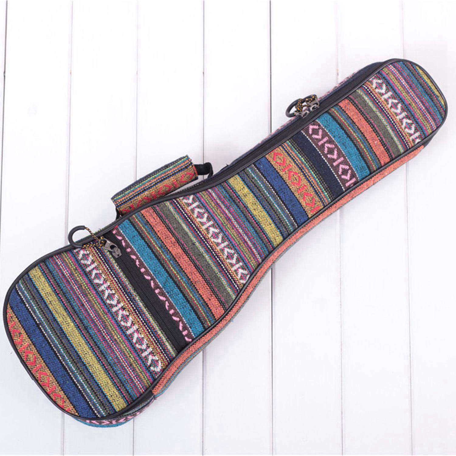 21inch Padded Cotton Folk Portable Bass Guitar Bag Ukulele Case Box Cover Guitar Backpack with Double Strap