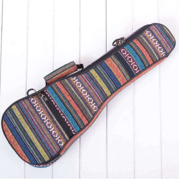 Padded Cotton Folk Portable Bass Guitar Bag Ukulele Case Box Cover Guitar Backpack with Double Strap