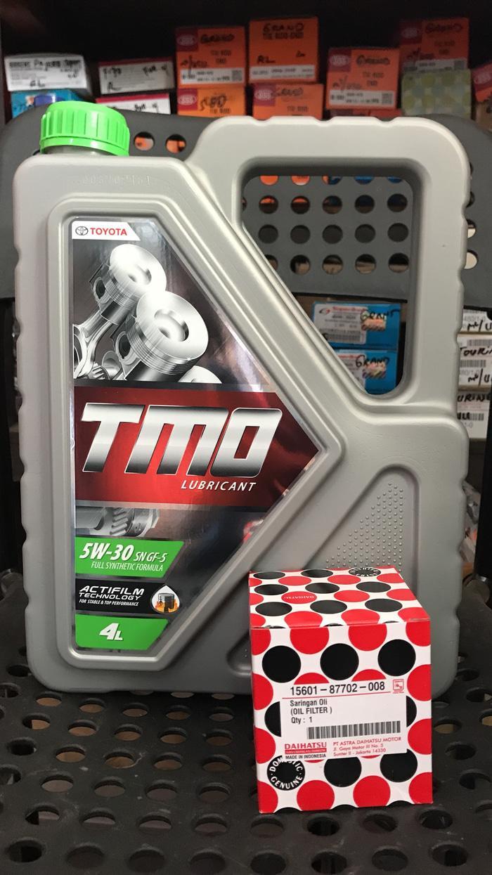 Paket tune up toyota tmo sae 5w-30 + filter oli xenia a