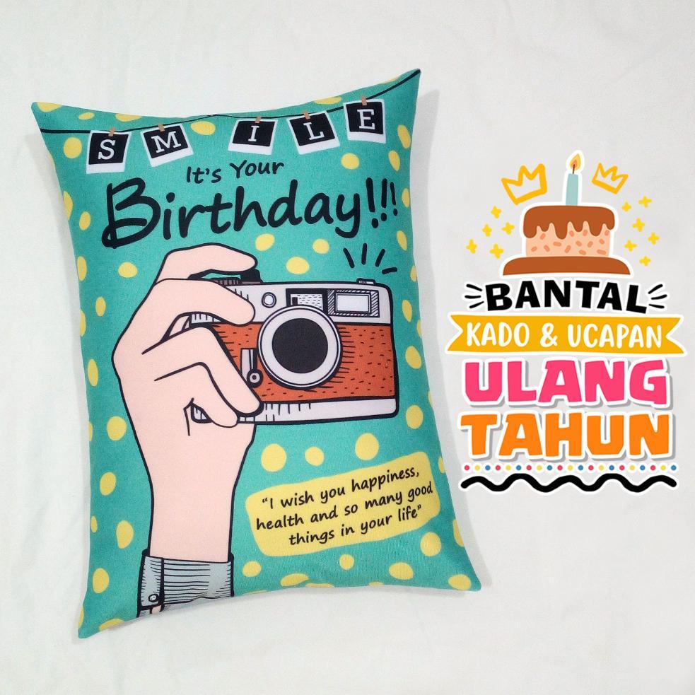 Bantal Kado & Hadiah Ulang Tahun Tema 30x40cm Ready NO PO