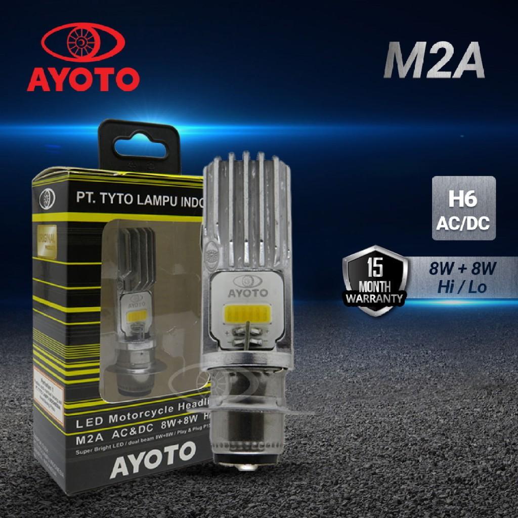 [ORIGINAL 100%] Lampu Led Motor AYOTO M2A H6 (putih) Untuk Matic dan Bebek READY COD/BAYAR DITEMPAT (GARANSI15bulan)