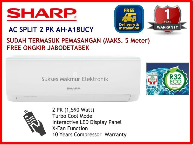 Promo Hanya Produk Sharp AC AH-A18UCY 2 PK, 1590 Watt ( HARGA SUDAH PASANG)