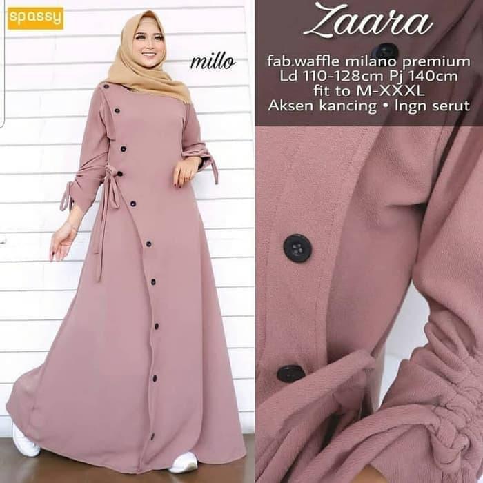 TOF PROMO GAMIS TERLARIS Gamis Wanita TERBARU Gamis Syari Dress Wanita  Muslim Murah ZARA MAXI e75789af0a