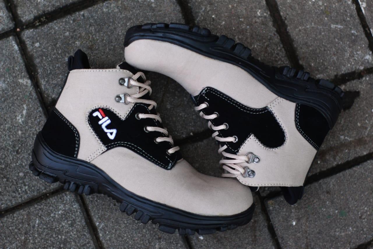 Sepatu Delta Boots Safety pria fila tracking hiking touring kerja lapangan dinas pdl boot ujung besi casual sneakers