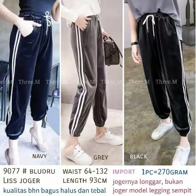 Bisa Cod Celana Jogger List Garis Celana Legging List Putih Celana Jegging Panjang Donk Store Lazada Indonesia