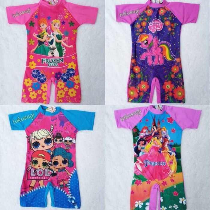 Baju Renang Anak Cewek Karakter - Promo Baju Diving Lucu Motif Random kekinian