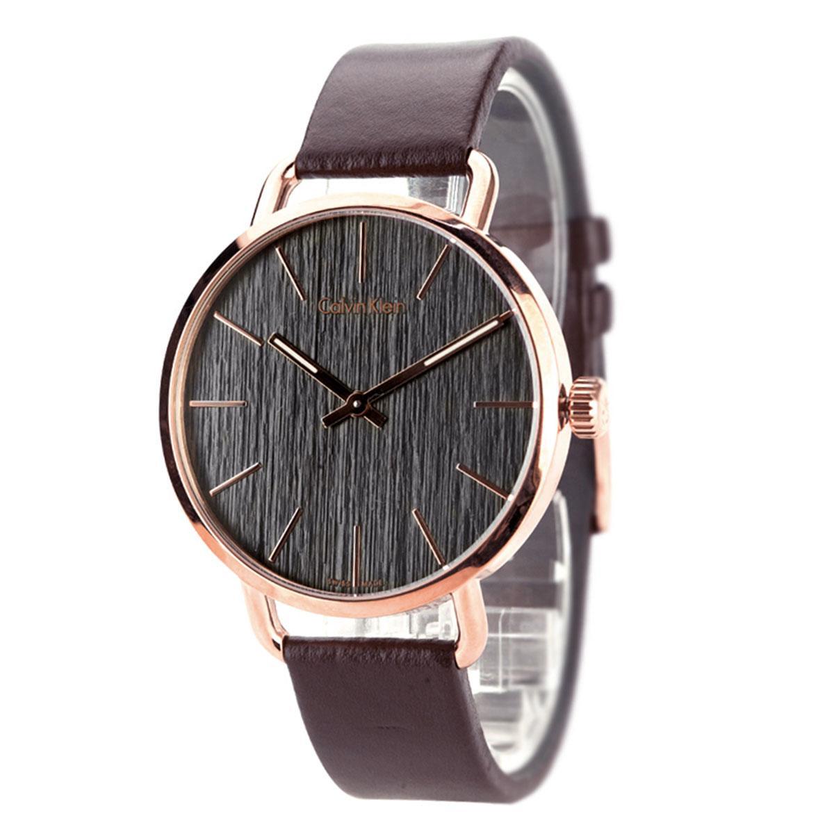 Harga Jam Tangan Wanita Cewek CK R1713 Gold PriceNia com Source · Calvin Klein Even Brown Stainless Steel Case Leather Strap Mens K7B216G3