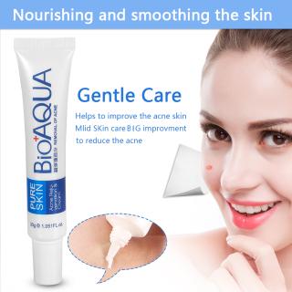 BIOAQUA Pure Skin Acne Cream - Krim Jerawat Ampuh Menghilangkan Jerawat Bandel Bekas Jerawat Removal of Acne Cream - 30gr thumbnail
