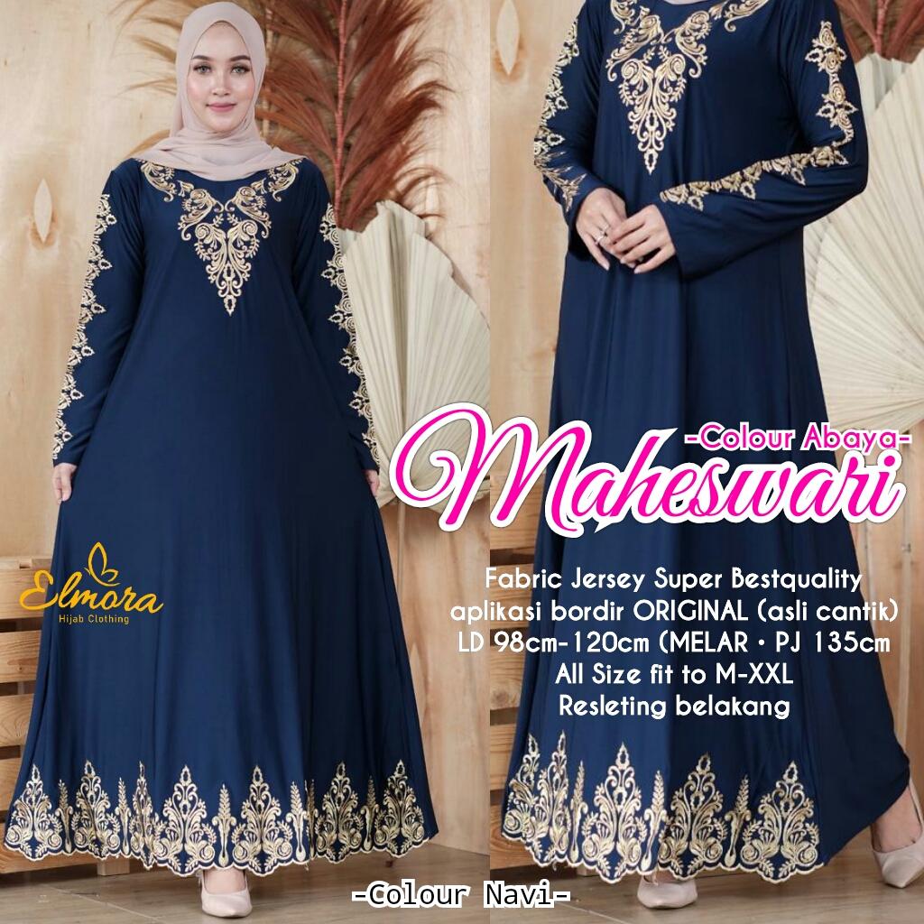 Maheswari Colour Abaya Jersey Super Hq Model Baju Abaya Modern