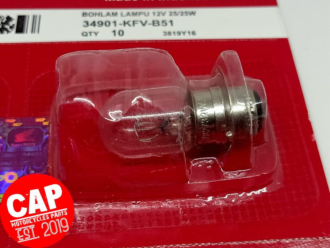 [Grosir 10 Pcs]Bohlam Depan Lampu Honda 12V 25/25 Watt Grand Vario Beat KFV