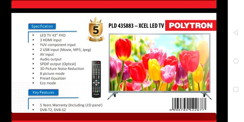 LED TV POLYTRON PLD-43S883