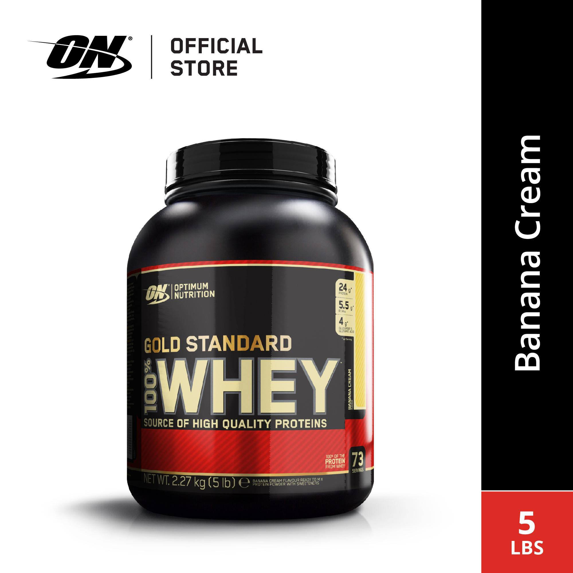 Optimum Nutrition Whey Gold Standard 5 Lbs - Banana By Sport N Body Fit