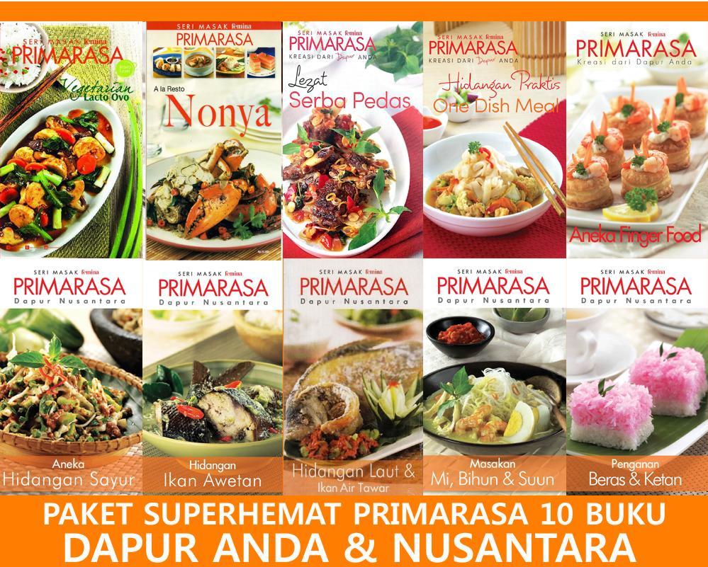 Dapur Anda & Nusantara Paket Superhemat 10 Buku Primarasa By Feminagroup.