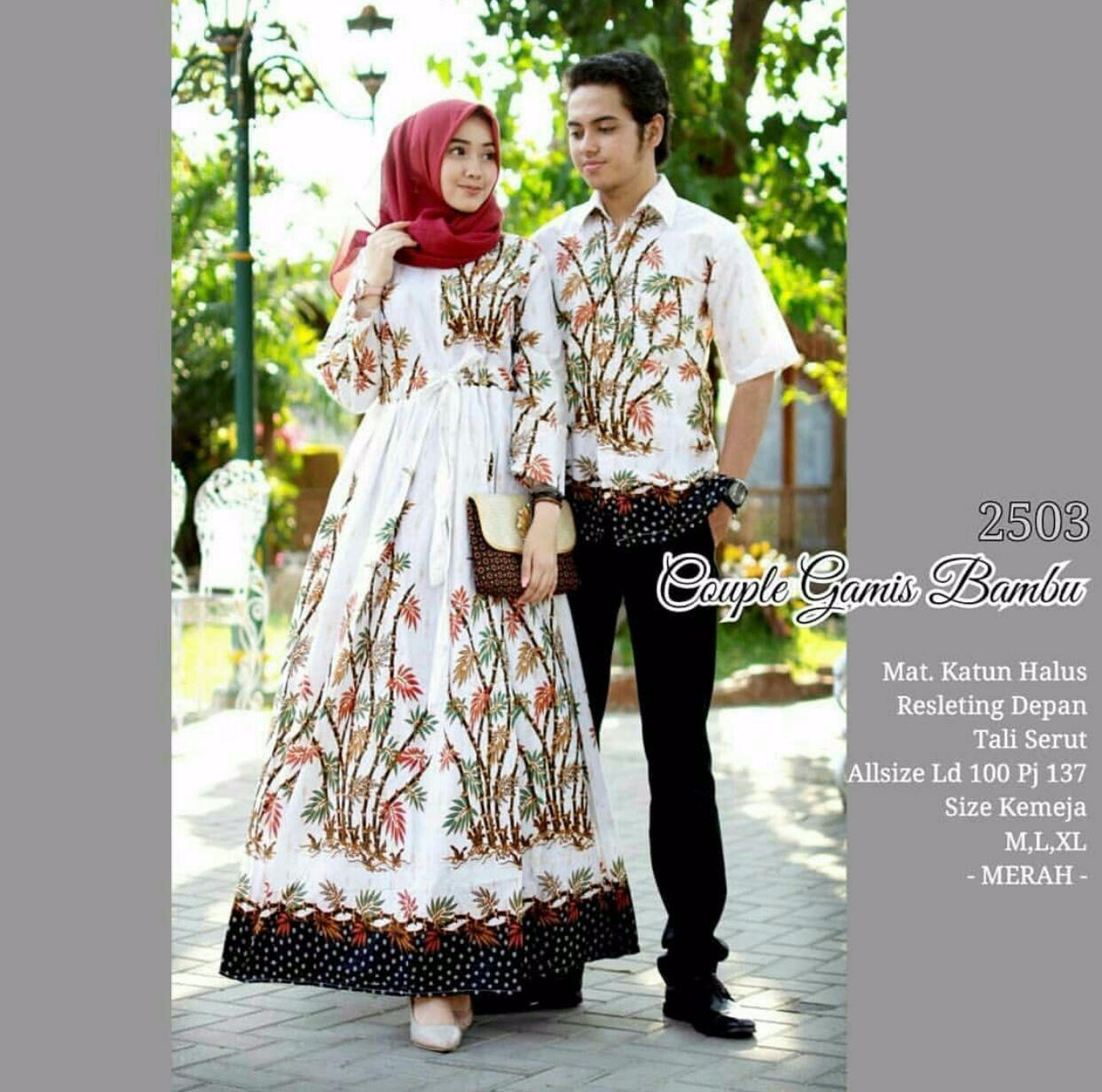 gamis Kipas batik modern couple