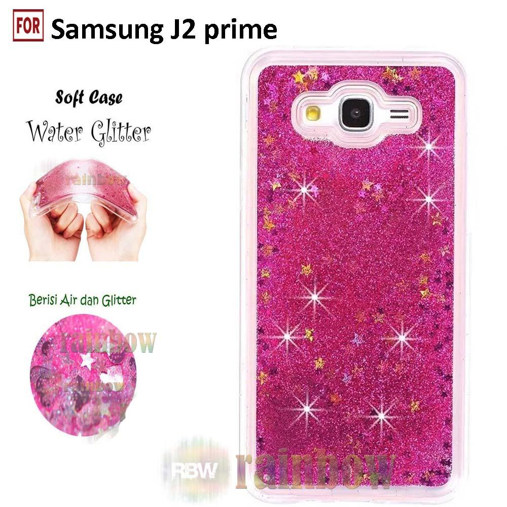 Rainbow Samsung Galaxy J2 Prime Soft Case Water Glitter Liquid Series Glowing Star / TPU Silikon Back Cover / Ultrathin / Softshell/ Jelly Case / Case Blink ...