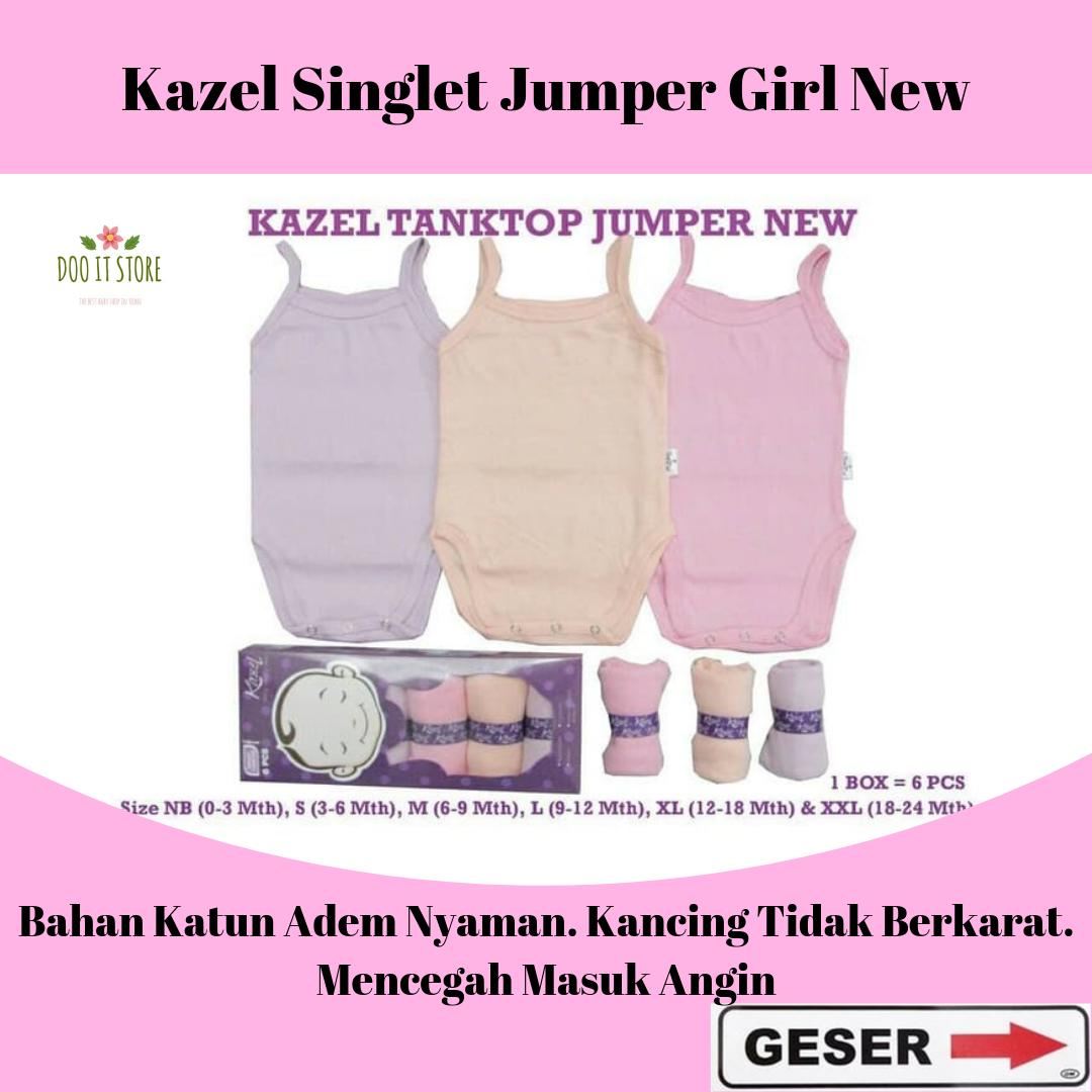 Kazel Kaos Dalam Bayi Tanktop Girl/Singlet Boy Jumper Old and New Edition isi 6pcs (Pilih Motif) | Lazada Indonesia
