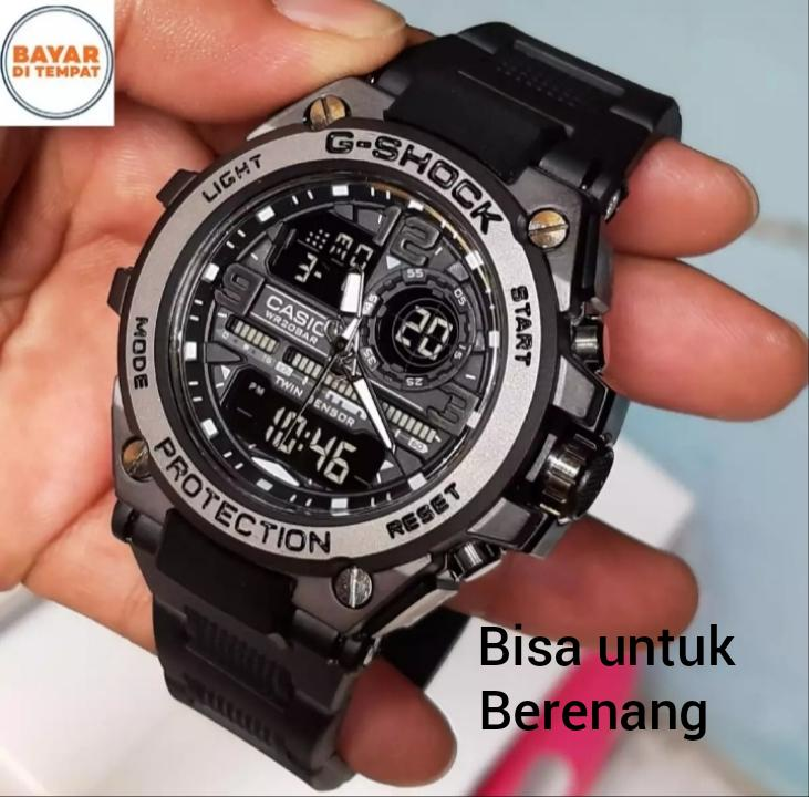 LIMITED EDITION-CASIO Jam Tangan SPORT G SHOCK_G5019 Jam Tangan Fashion Pria - Body Besi Strap Rubber - Black Cute - Dual Time Water Resist - Limited Editions.PROTECTION